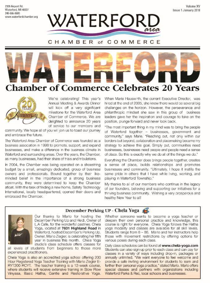 Jan 2018 newsletter cover