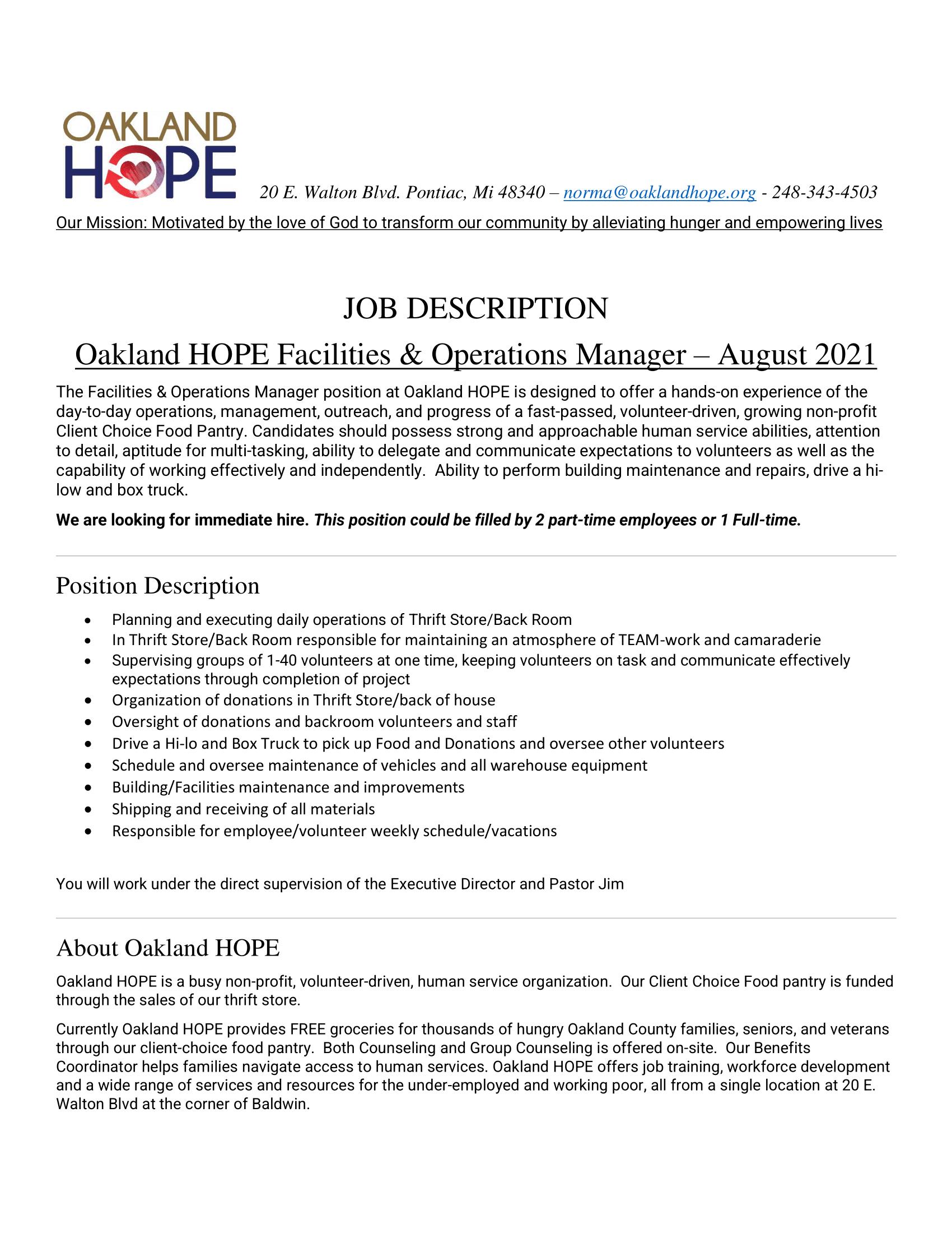 Job Description Facilities-Operations Manager 8-25-21-1