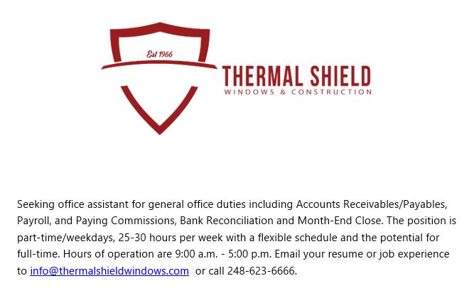 Thermal Shield Job Post
