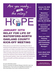 RFL of Waterford North Oakland County 2020 Kick-off Flyer FINAL-1