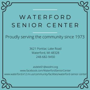 Waterford Senior Center chamber ad